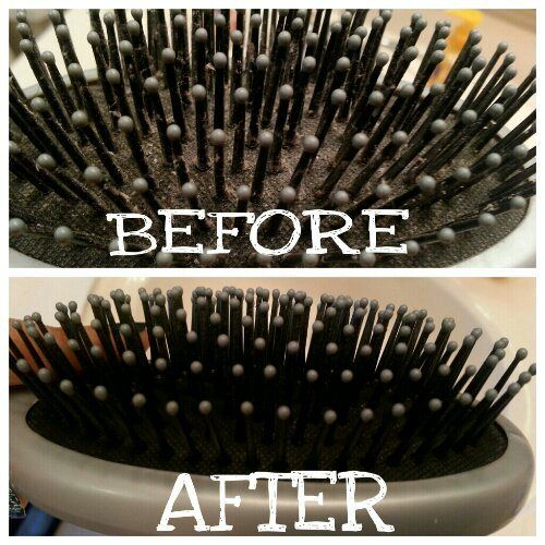 How To: Clean Hair Brushes. It's really easy and makes a big difference.