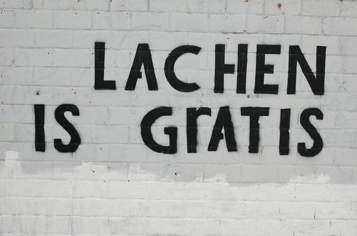Lachen is gratis