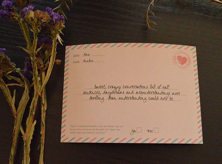 Will you be my bridesmaid card by www.hestiastationery.co.za