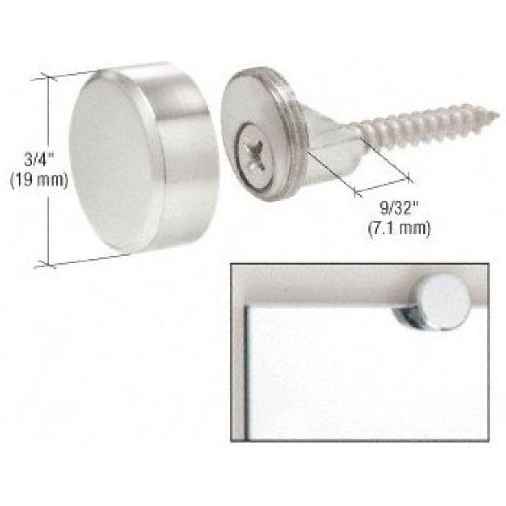 CRL Chrome Brass Round Mirror Edge Fixings Clips Brackets x 4 6mm