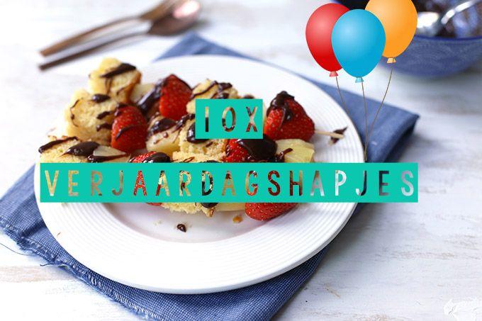 Op zoek naar lekkere en simpele verjaardagshapjes? Dan ben je hier aan het juiste adres! We delen 10 lekkere verjaardagshapjes. Fijne verjaardag.
