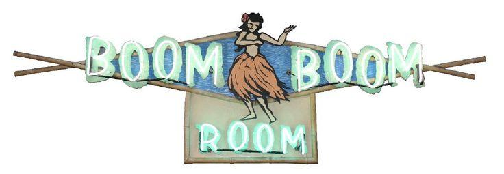 Boom Boom Room 1950's neon sign