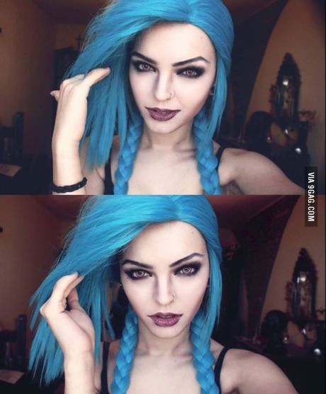 Wig and Jinx makeup test By Andrasta