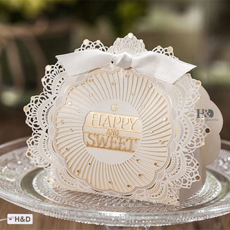 10PCS Gold Sweet Wedding Favor Candy Box Baby Shower Party Favor Gift Boxes #Unbranded