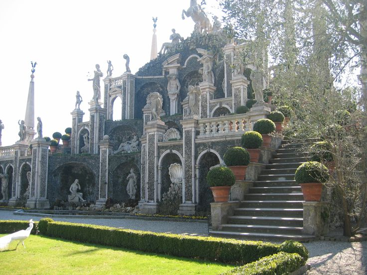 The beautiful garden on Isola Bella on Lake Maggiore, near Pascia, Oggebbio, Lago Maggiore, Italy. Where you could be staying. Go to https://www.airbnb.com, https://www.holidaylettings.co.uk, https://www.housetrip.com or https://www.tripadvisor.com to enquire about renting our wonderful apartment.