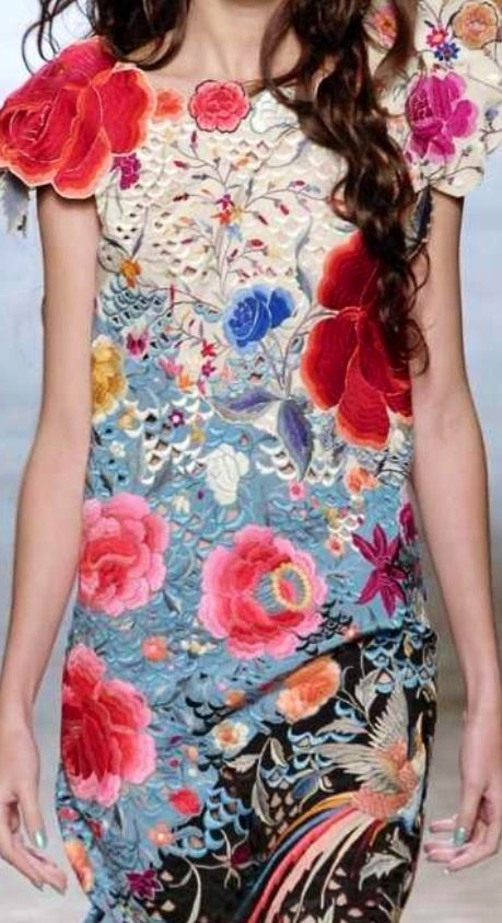 Gorgeous embroidery and texture!