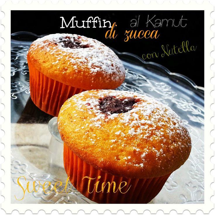 Sweet Time: Muffin di zucca al Kamut con Nutella