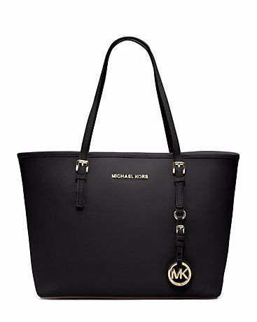 MICHAEL KORS Jet Set Travel Saffiano Leather Medium Tote