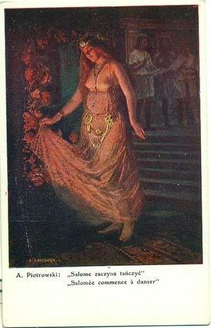 Vintage Polish Signed 'Salome Dances' Postcard