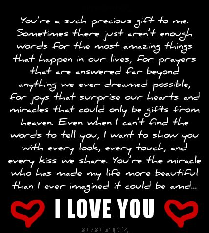 You Are My Miracle Gift From God I Love Endlessly Darling Gorgeous Wife Always And Forever Sooo