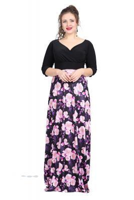 b8c6b1038f21a Büyük Beden Abiye Uzun Elbise KL8003U #abiyeler #abiyemodelleri  #elbisemodelleri #büyükbedenabiye #büyükbedenelbise