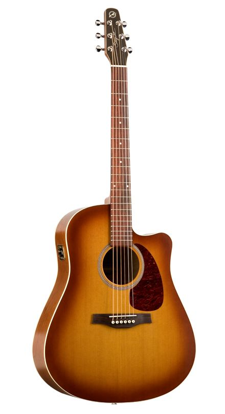 I have this Seagull guitar in black. My FAVORITE thing