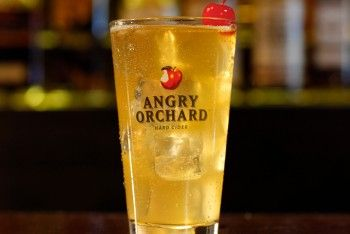 Angry Cuban- 1.5oz White Rum 3oz Pineapple Juice Angry Orchard Crisp Apple