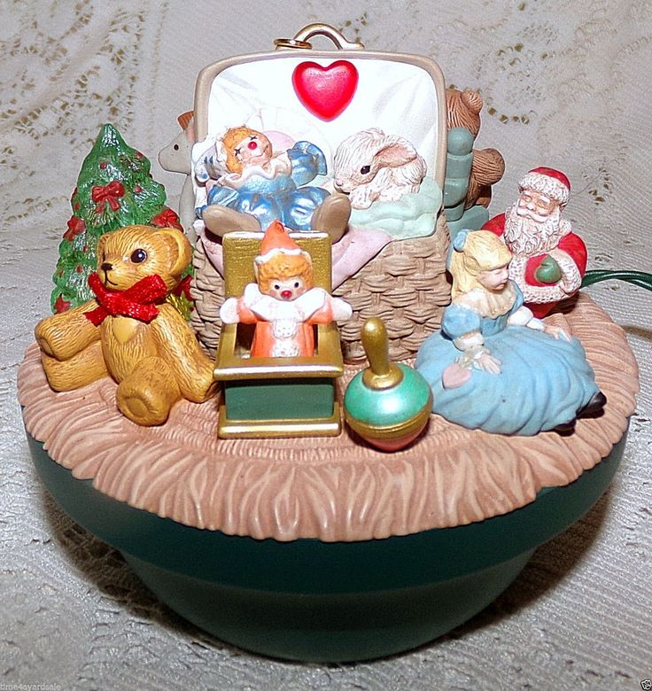 Hallmark Keepsake Ornament Victorian Toy Box Light Motion Music 1998 #HallmarkKeepsake #MagicLightMotionMusicOrnament