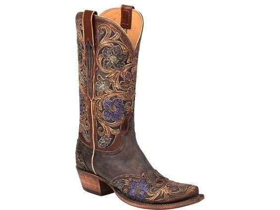 Clearance Authentic Lucchese Bootmaker Britton 8 Toe Cowboy Boot(Women's) -Anthracite Mad Dog Goat de5ftxpAm6