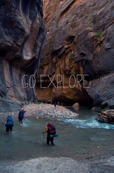 zion national park, utah- the narrows, my favorite hiking place by far.