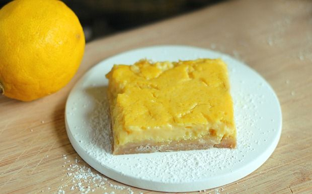 The best lemon bars I've ever tasted... It's a happy coincidence they're healthy, too!