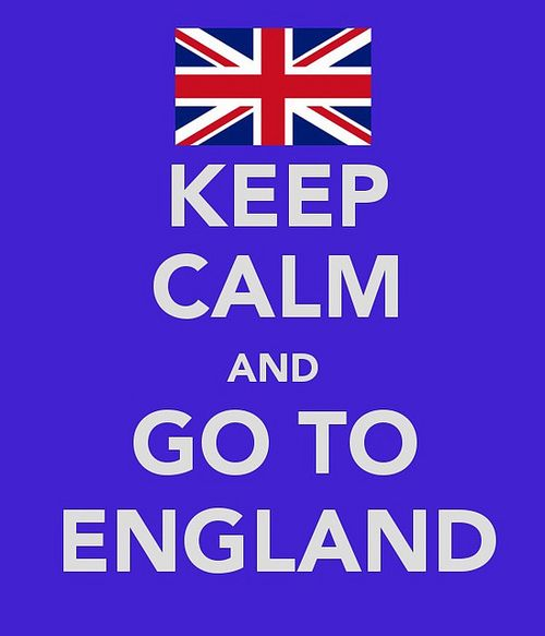 Keep calm... go to England:  calm?  Are you kidding?  Leap around, dance & shout, pack, smile, & skip through customs