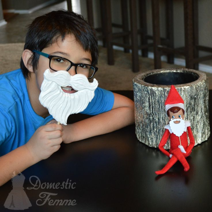 Santa Beard Sucker - Elf On The Shelf 2015 Calendar (25+ NEW Ideas!) w/ FREE Printables!  #Christmas #Clothes #Costume #Day #Easy #Elves #Eve #Fast #Food #First #Funny #Girl #Good #Goodbye #Hiding #Hilarious #Holiday #Jesus #Jokes #Kid #Kindness #Lazy #Magic #Minutes #Mischief #Moms #Movie #Moving #Night #Old #Pajamas #Pet #Photos #Pictures #Planner #PJs #Pranks #Quick #Random #RAK #Reindeer #Returning #Toddlers #Tradition #Tricks #Video #Xmas #Year #Young