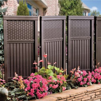 How to make a folding outdoor privacy screen woodworking for Plastic garden screening panels