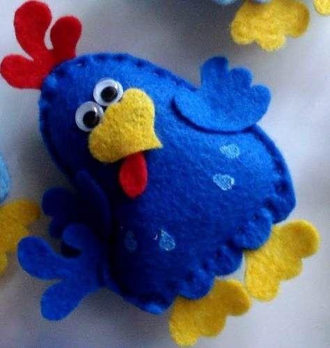 ARM - Lenceria de COCINA -Tecnica: FIELTRO. /////     galinha pintadinha