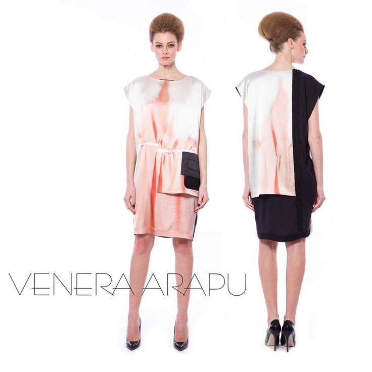 Let the silk seduce you at first sight and then fall in love with the edgy tailored details. Get the dress at shop.venera-arapu.com.