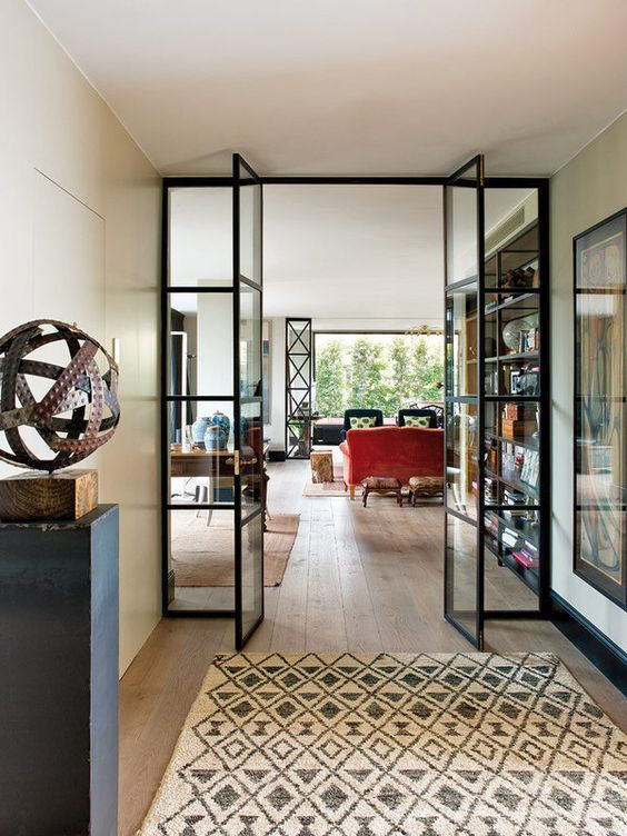Glass Doors with black frames