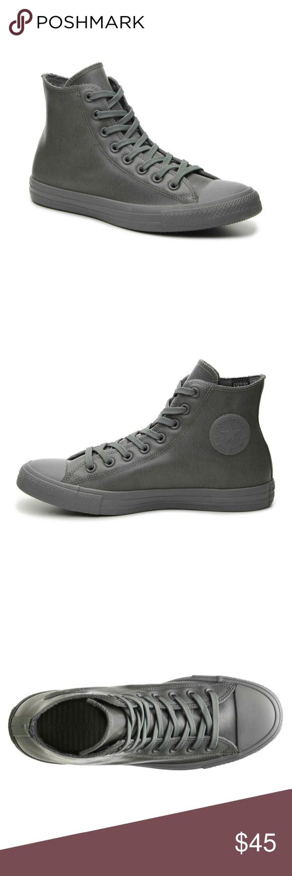 Converse Hightops Gray Rubber Converse Allstars NWOT Converse Shoes Sneakers