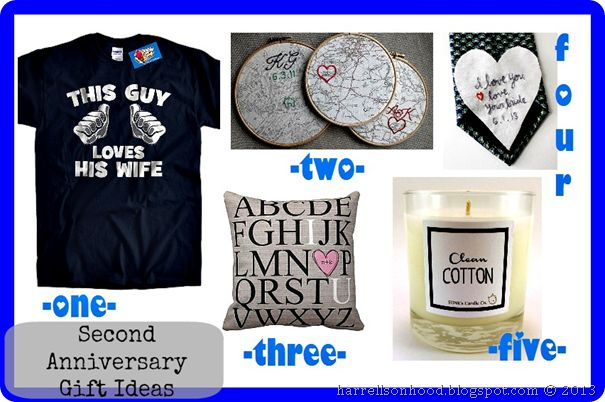 2nd Wedding Anniversary Gifts Cotton For Him : ... second anniversary gift ideas, pillow, candle, t-shirt, husband gift