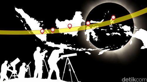 Lokasi Ideal Pengamatan Gerhana Matahari 9 Maret 2016
