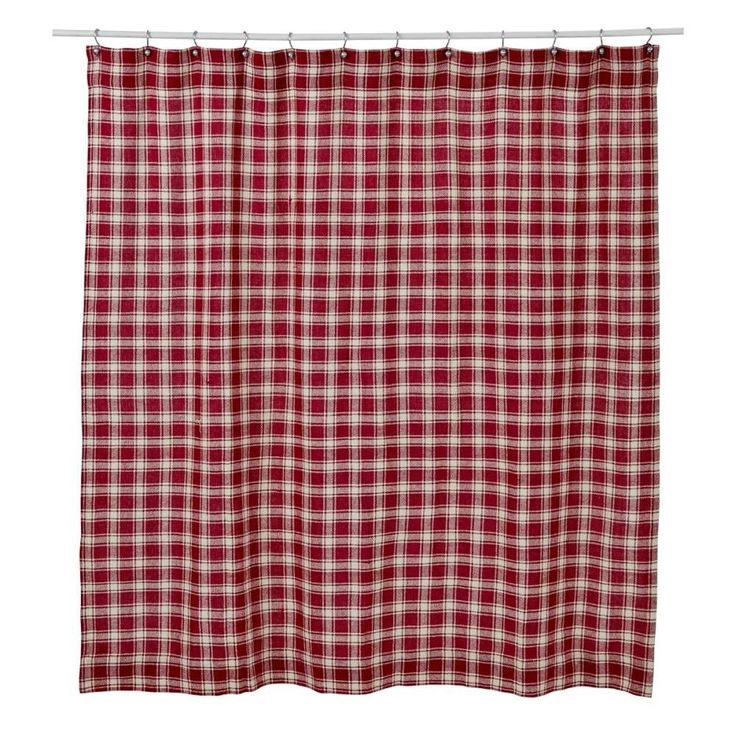Red And Green Plaid Shower Curtain