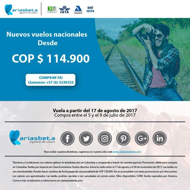 Promoción Vuelos Nacionales Julio viaje con Ariasbeta