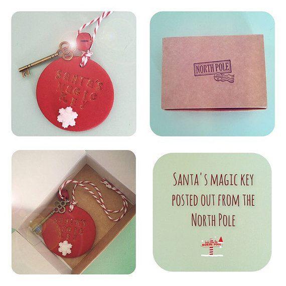 Santa's magic key santa's key handmade by Rhubarbhillcrafts