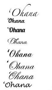 Ohana means family, family means nobody gets left behind. LOVE this quote.
