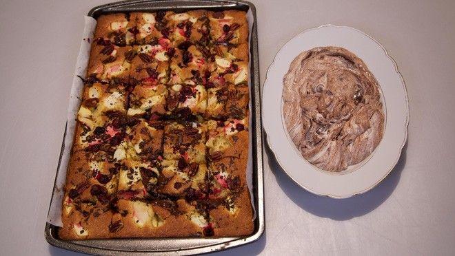 Easy traycake - met bijv. Appel,kersen,chocolade en noten recept   24Kitchen
