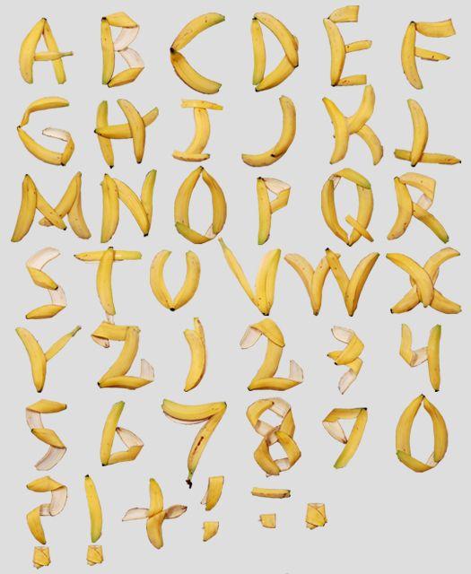 banana peel alles banane banana pinterest behance With banana letters