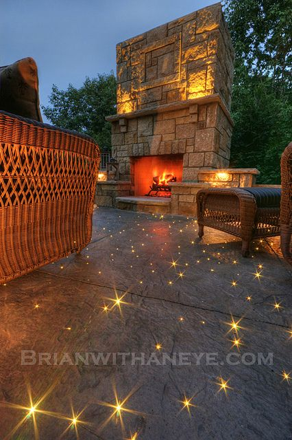Starry Starry Concrete by Brianwithaneye, via Flickr.  Great photo, great setting and super fiber optics in path or patio flooring.  Might serve well as night lights too.  #fiber optics #outdoor room #house vision board