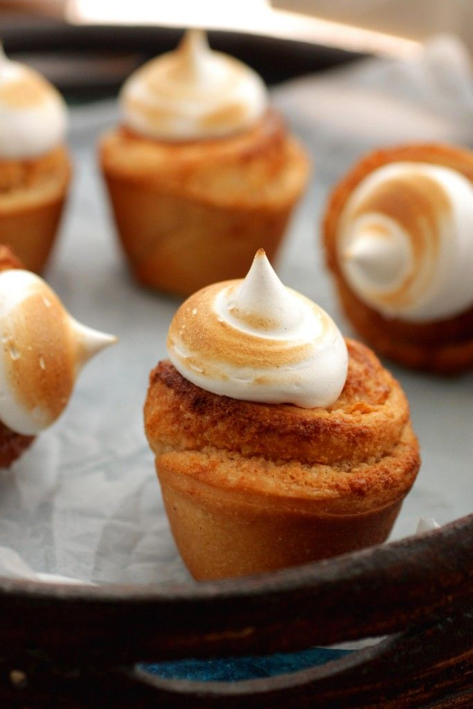 Marzipan roll with meringue topping