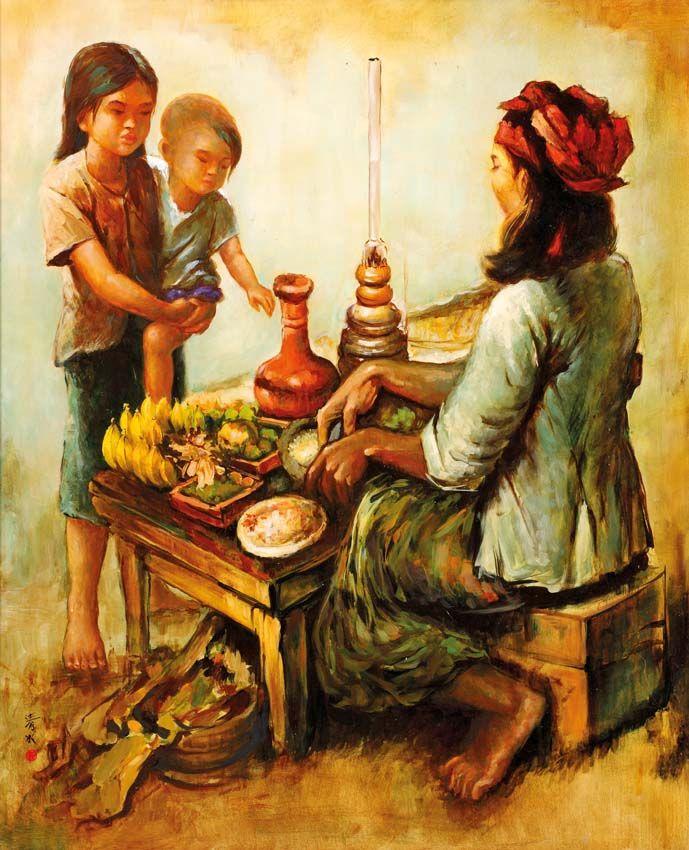 Cheng Shui (Bogor, 1981) - Penjual Rujak (rujak verkoopster).