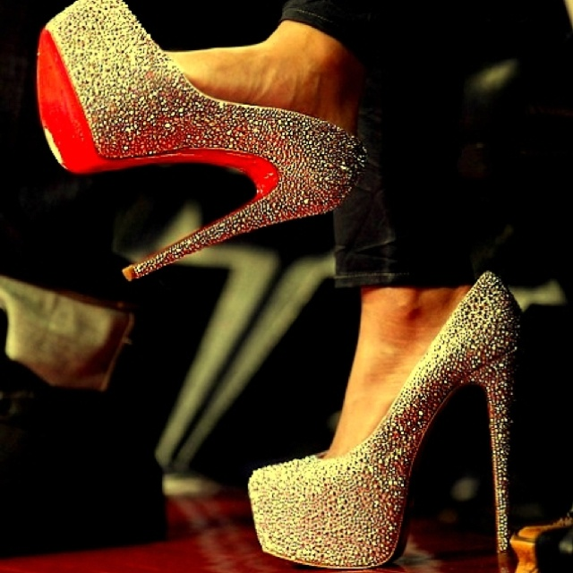 not normally my style but I think every girl needs a pair like this tucked in her closet....: One Day, Red Bottoms, Oneday, Fashion, Wedding Shoes, Christian Louboutin, High Heels, Glitter Heels, Christianlouboutin