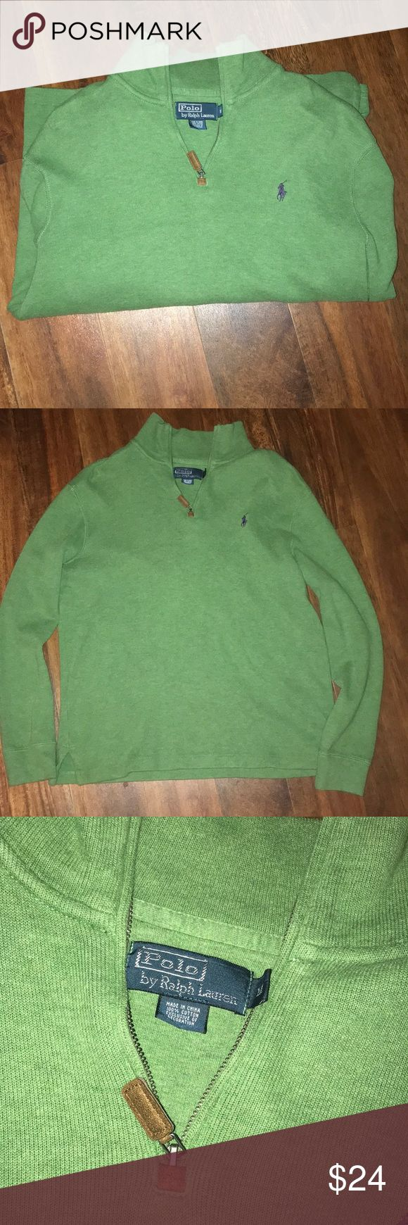 Polo pullover Men's polo pullover, zipper, light green, smoke free home, great condition Polo by Ralph Lauren Sweaters Zip Up