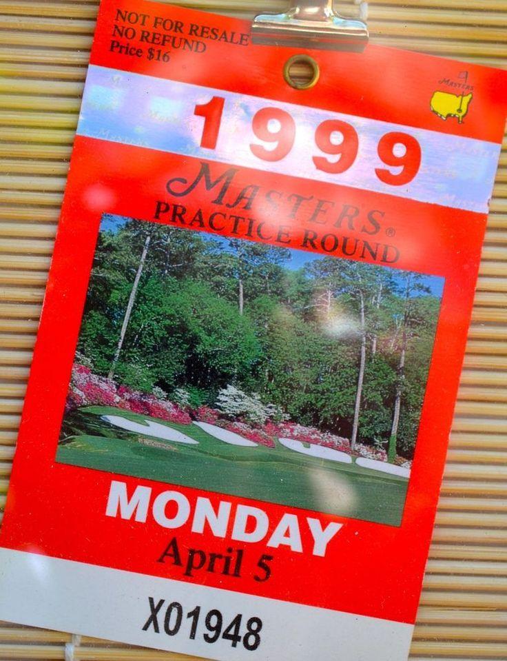 1999 MASTERS GOLF Framed Practice Round Badge Jose Maria Olazabal Wins #AugustaNationalMasters
