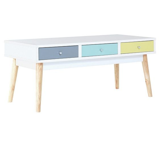 Buy Hygena Lumina 6 Drawer Coffee Table - Multicoloured at Argos.co.uk, visit Argos.co.uk to shop online for Occasional and coffee tables, Coffee tables, sideboards and display units, Home and garden