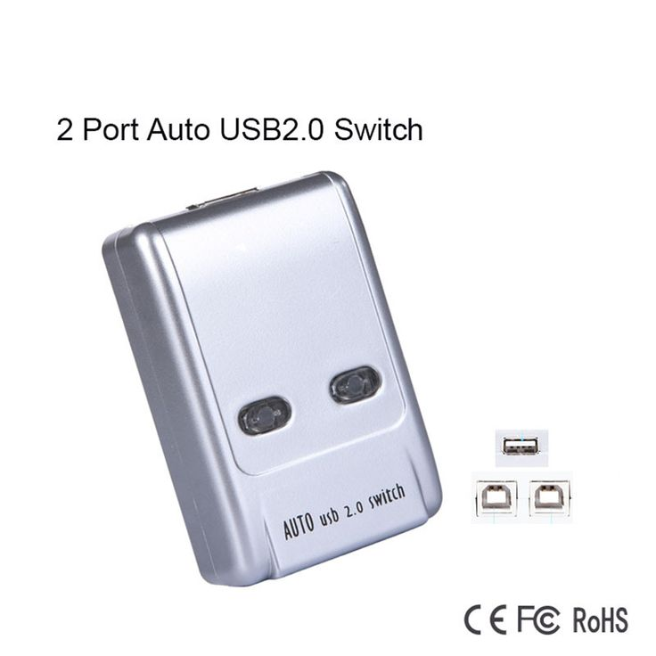 MI-VIKI Auto 2 Port USB 2.0 Share Sharing Switch Hub For PC Printer, 2 PC to 1 Printer/Scanner Switcher. Yesterday's price: US $10.11 (8.36 EUR). Today's price: US $7.89 (6.50 EUR). Discount: 22%.