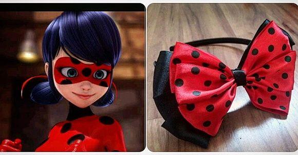 Laço inspirado na personagem Ladybug e no Tema Joaninha.  O laço tem 15cm de largura x 9 cm de largura, podendo ser feito maior ou menor...a escolha é da cliente.