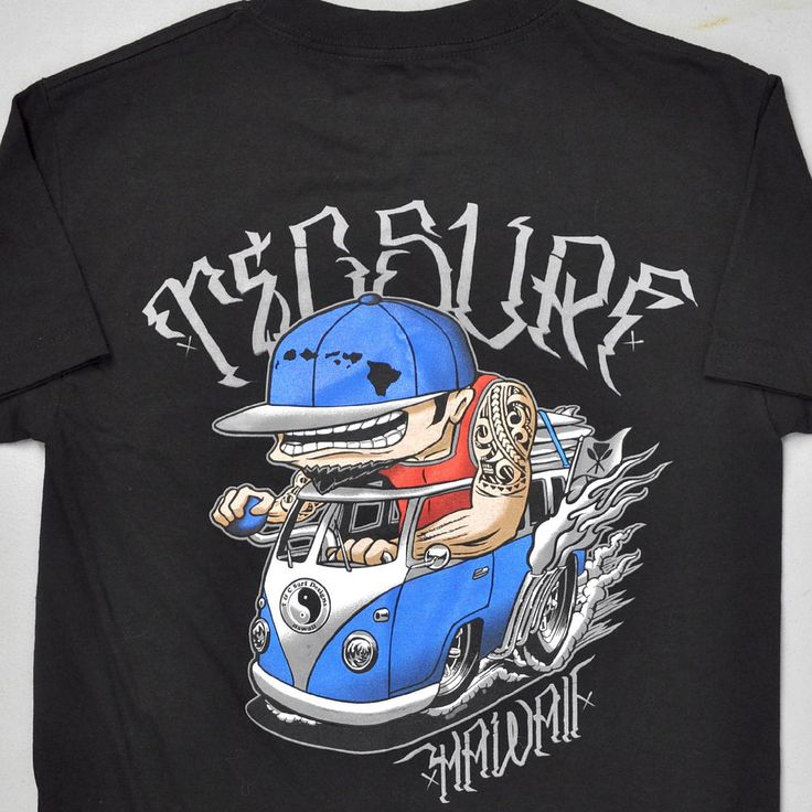 VW Bus T&C Surf Hawaii Islander Street Rod Graffiti T-shirt Small S New Kustom #TC #GraphicTee