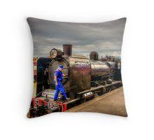 Steam Train K-190 at Maldon Station Throw Pillow