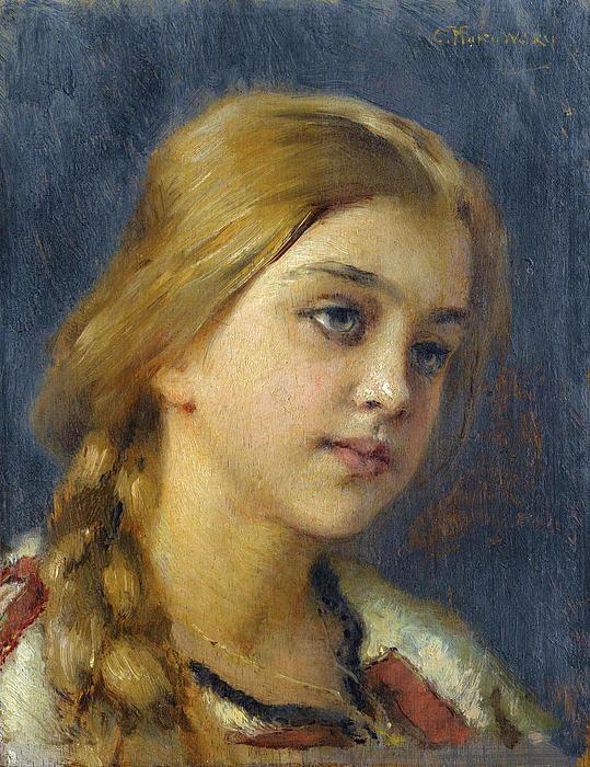 Portrait Of A Girl  Konstantin Makovsky