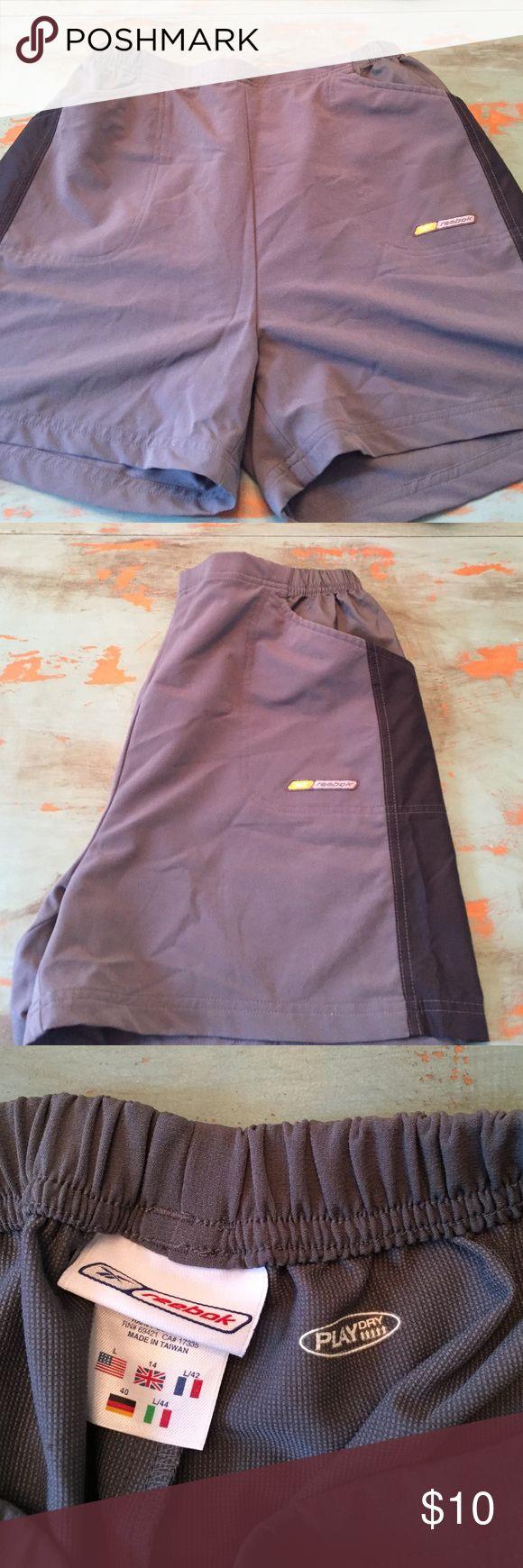 Rebook women's sport shorts Light weight Reebok women's sport shorts.  Polyester/spandex blend with Play Dry.  Never worn. Reebok Shorts