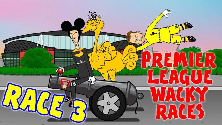 RACE 3!!! Premier League Wacky Races (Everton 0-2 Man City, goals highli...